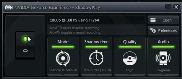The system requirements for Shadow Play can be found on this page